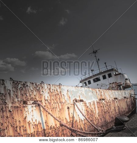 Shipwreck At The Pier