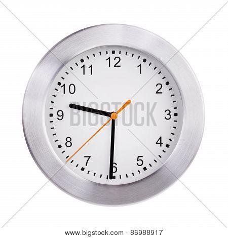 Office Clock Shows Half Past Nine