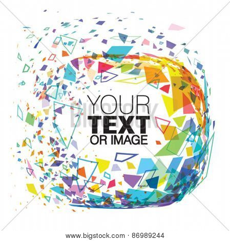 Vector abstract frame of particles for your text