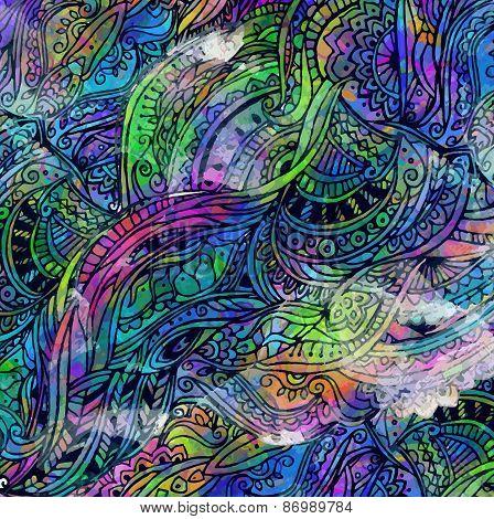 Mandala Card Watercolor