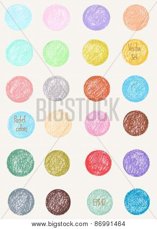 Vector pattern in pastel colors.