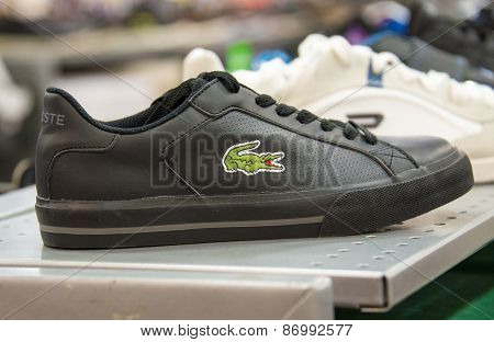 Lacoste Shoe In Store Shelf