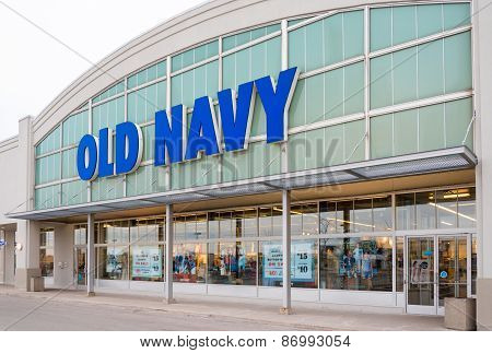 Old Navy Store Facade In Toronto