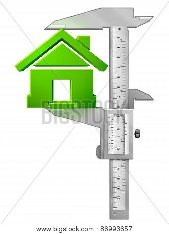Vertical Caliper Measures House Symbol