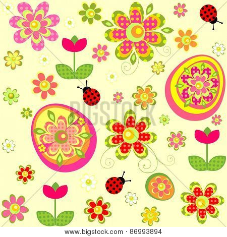 Easter wallpaper with applique print
