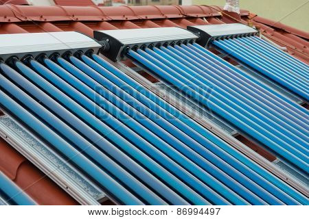 Vacuum Collectors- Solar Water Heating System