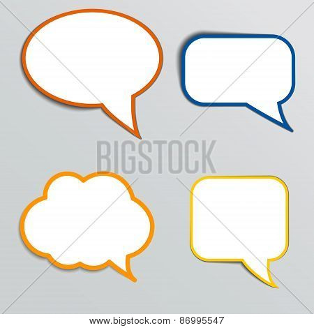 Stickers in form of speech bubbles.