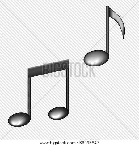 Illustration of a black notes isolated on white background VECTOR