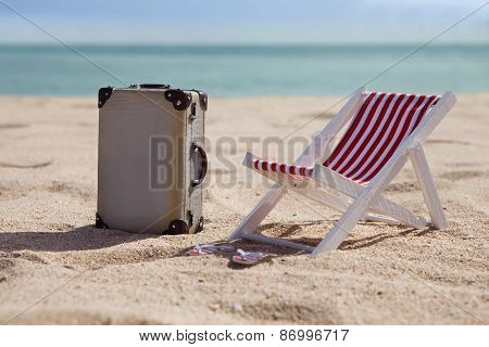 Deckchair With Suitcase