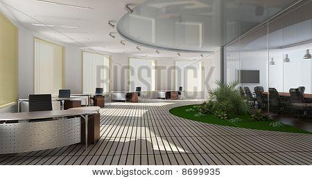 Interior moderno de oficina
