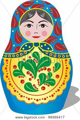 Russian Matryoshka Blue Toy [
