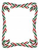 picture of candy cane border  - Image and illustration composition for Christmas border - JPG