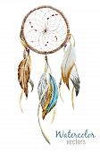 picture of dreamcatcher  - Beautiful vector image with nice watercolor dreamcatcher - JPG