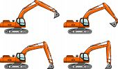 picture of excavator  - Detailed illustration of excavators - JPG