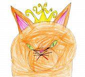 foto of evil queen  - red cat queen portrait - JPG