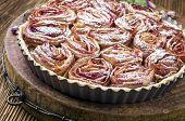 stock photo of tarts  - Tarte aux Pommes - JPG