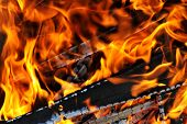picture of ashes  - Burning down fire - JPG