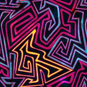 image of psychedelic  - psychedelic curves seamless pattern  - JPG