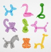Постер, плакат: Animals balloons set