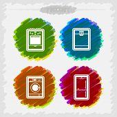 foto of dishwasher  - House related Objects -  Stove Dishwasher Washing machine Fridge. - JPG