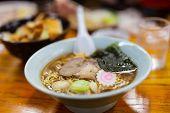 stock photo of noodles  - Delicious Ramen Japanese noodle soup dish - JPG