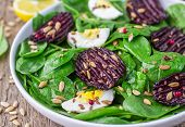 image of sunflower-seeds  - Fresh spinach salad - JPG