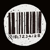 stock photo of barcode  - Doodle Barcode - JPG
