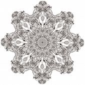 pic of kaleidoscope  - Ornament color card with mandala - JPG
