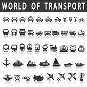 stock photo of dumper  - Transport icons - JPG