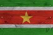 stock photo of suriname  - Suriname national flag - JPG
