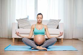 stock photo of big belly  - pregnancy - JPG