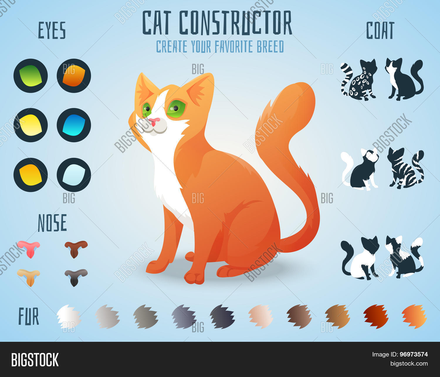Concorso Design Your Cat : Cute cat breed constructor you can create your own kitten