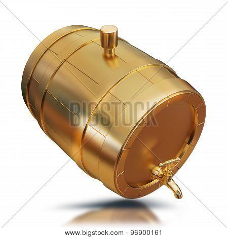 Illustration Golden Barrel Isolated