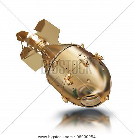 Illustration Gold Aerial Bomb Solated