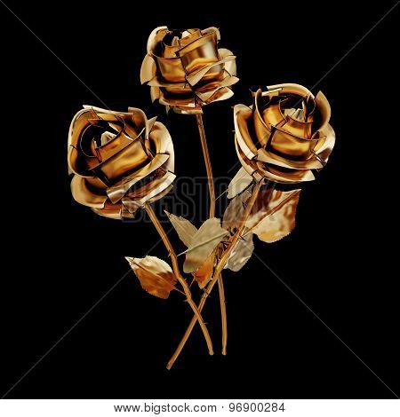 Illustration Of A Gilded Rose