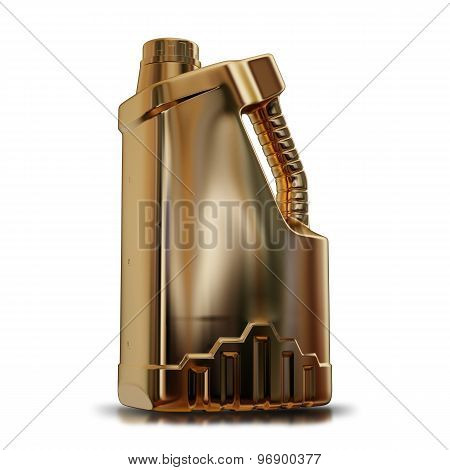 Illustration Of A Gold Canister