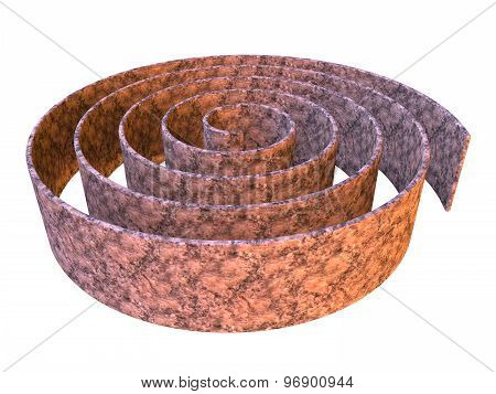 3D Rendered Abstract Maze Design Made In Stone