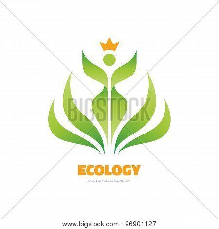 Ecology - vector logo concept illustration. Ecology logo. Leafs logo. Bio logo. Nature logo.