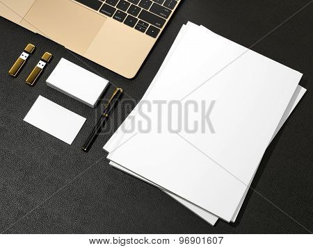 Blank Magazine  And Notebook