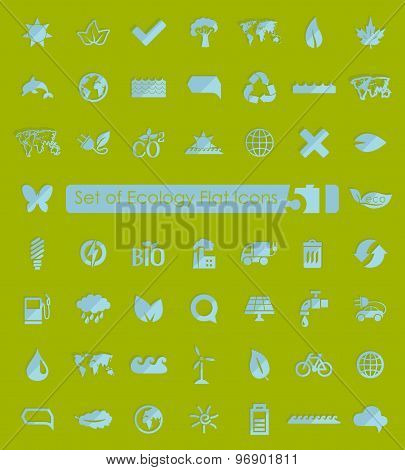 Set of ecology icons