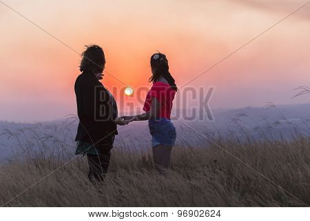 Mother Daughter Sunset Relationship