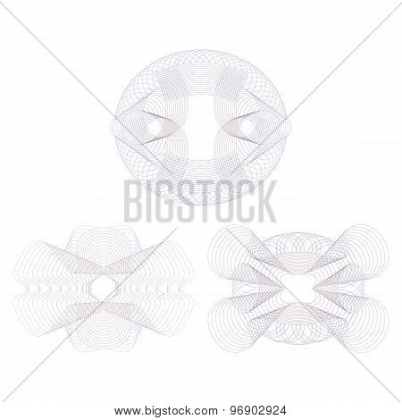 Three Decorative Rosettes