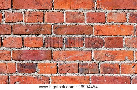 Background of old vintage brick wall texture