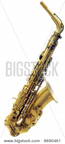 Cutout Of Saxophone