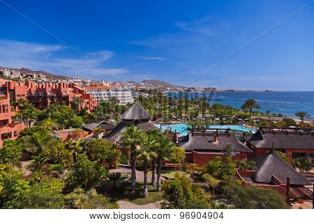 Architecture at Tenerife island - Canaries vacation background