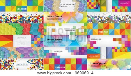 Set of web banners. Vector template.
