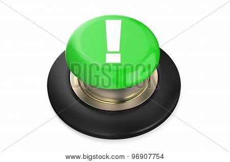 Exclamation Mark Green Button