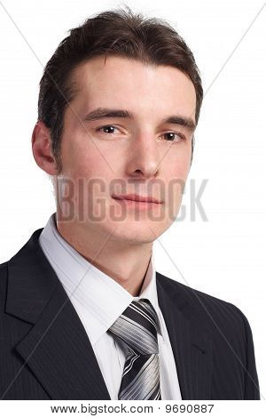 businessman isolated on white close up