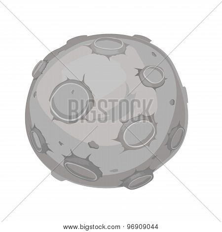 cartoon illustration of a moon, vector
