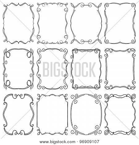 Frames Design Elements. Editable Vector Illustrator File